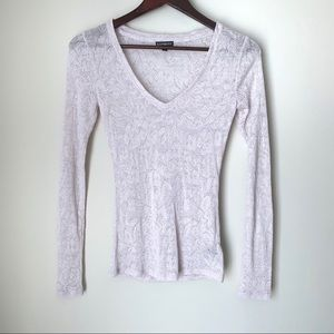 Express Light Pink Knit Top